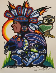 Kitigan Lloyd Kakepetum for Triple K Arts- Chief and Animals, $200.00 (http://www.kitigan.com/chief-and-animals/)