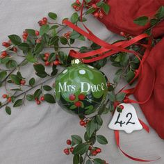 42 Days till Christmas. Special personalised baubles check out my range from my website