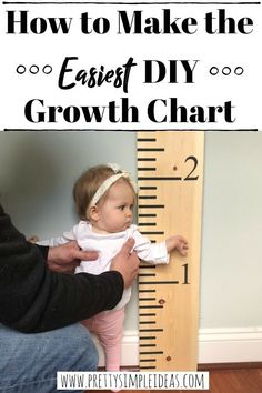 Easy DIY Growth Chart Made with Stencils! This growth chart looks like a giant ruler and is so simple to make. diy house Easy DIY Growth Chart Made with Stencils Freetime Activities, Infant Activities, Beauty Blender, Lifehacks, Pool Play, Growth Chart Ruler, Growth Charts, Baby Diy Projects, Baby Crafts