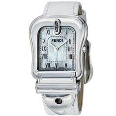 Fendi Women's F371144 B. Fendi White Textured Leather Strap Watch Fendi. Save 33 Off!. $369.99. Sapphire crystal. Swiss quartz movement. Textured leather strap. Stainless steel case. Water-resistant to 30 M (99 feet)