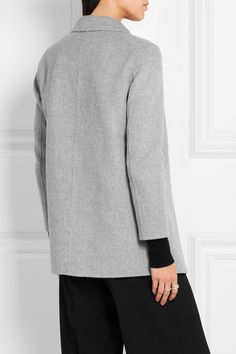 Theory | Clairene brushed wool and cashmere-blend jacket | NET-A-PORTER.COM