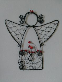 Wire Crafts, Metal Crafts, Wire Wrapped Jewelry, Wire Jewelry, Wire Ornaments, Angel Crafts, Iron Wire, Scrap Metal Art, Christmas Makes