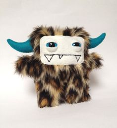 Chui the leopard faux fur plush monster by DoodleDollies on Etsy, $42.00