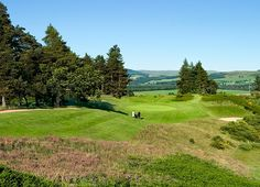 The 10th green on the Gleneagles, Queens Course, the most aesthetic of the three Gleneagles tracks
