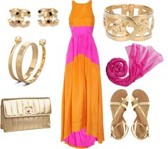 Dinner on the beach outfit, created by sonia-roxy-m on Polyvore