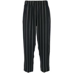 Forte Forte striped cropped trousers (29.580 RUB) ❤ liked on Polyvore featuring pants, capris, blue, forte forte, cropped capri pants, blue trousers, cropped pants and cropped trousers