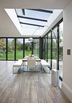 Conservatory design, pictures, ideas, inspiration homify - modern conservatory by Concept Eight Architects Homifity living ideas - Modern Conservatory, Skylight Design, House Extension Design, House Extensions, Design Case, Modern House Design, Home Interior Design, Modern Architecture, House Plans
