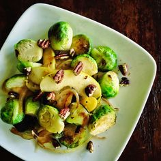 living beautifully...on a budget: Brussels Sprouts Salad with Apples and Pecans