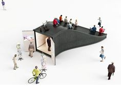 Designers Explore an Entirely New Use for Shipping Containers in Seoul's Design District,Information kiosk. Image Courtesy of NL Architects