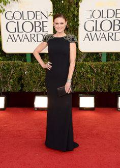 Emily Deschanel - 2013 Golden Globes Red Carpet
