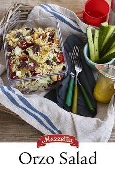 Whether your packing a picnic or planning an easy lunch, this Orzo Salad is loaded with flavor and texture. Learn how to whip this up for your next outing.