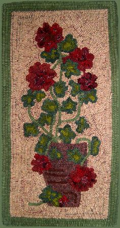 Floral rug hooking patterns from The Wool Street Journal