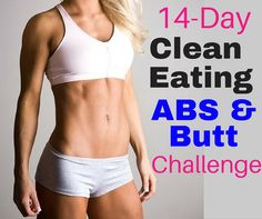 I need this! 14 Day clean eating and workout challenge. Love these quick and easy ABS & Butt workouts. The videos are short and easy to follow.  http://michellemariefit.com/14-day-clean-eating-abs-butt-challenge/