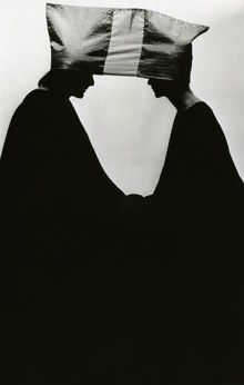 James Lee Byars: Two in a Hat, 1968; performance at Architectural League, New York.