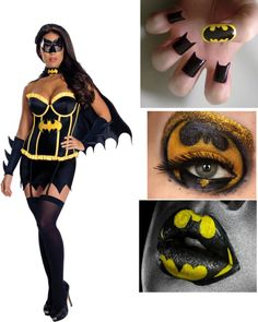 """Batman Helloween Costume"" by whitewolf17 ❤ liked on Polyvore"