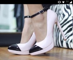 Zapatos shared by ♡Ashley Nicole♡ on We Heart It Ashley Nicole, Pumps, Heels, We Heart It, Pink, Black, Fashion, Zapatos, Heel