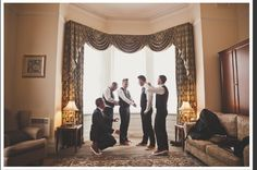 Hubby and his groomsmen getting ready