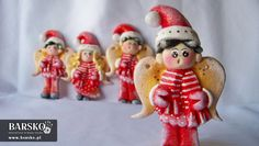 Mikołajowe Aniołki z masy solnej Salt Dough, My Works, Angels, Christmas Ornaments, Holiday Decor, Home Decor, Christmas Ornament, Interior Design, Home Interior Design