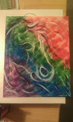 My attempt at painting the horse next to this. It's abstract, so squint really hard. Lol
