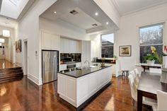White panelled kitchen