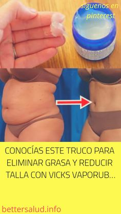 #CONOCÍAS ESTE #TRUCO PARA #ELIMINAR GRASA Y REDUCIR TALLA CON #VICKS #VAPORUB… Vicks Vaporub, Get Healthy, Healthy Life, Eating Healthy, Healthy Foods, Detox, Cold Remedies, Beauty Bar, Yoga Meditation