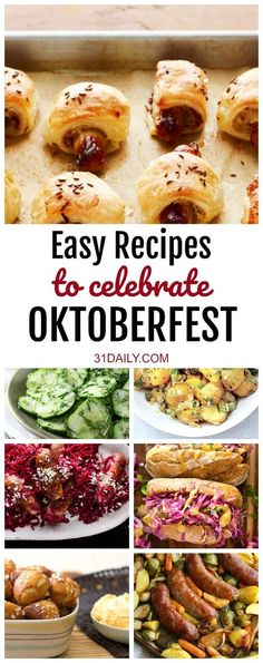 Oktoberfest Easy German Recipes - 31 Daily - - Celebrating Oktoberfest is a highlight of early fall. If you're looking for inspiration, we've gathered easy German recipes you will love. Oktoberfest Party, German Oktoberfest, Oktoberfest Recipes, Oktoberfest Outfit, German Recipes Dinner, Easy German Recipes, Bavarian Recipes, Dinner Recipes, German Appetizers