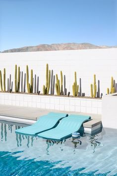Mid-century architecture Palm Springs: Let's fall in love with the most dazzling mid-century architecture projects in Palm Springs, California Palm Springs Häuser, Palm Springs Style, Palm Springs California, Southern California, Modern Landscaping, Pool Landscaping, Landscaping Software, Modern Pools, Mid-century Modern