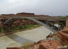 San Juan River Bridge in Mexican Hat, Utah - May 8, 2015