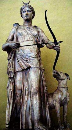 Goddess with archery gear