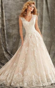 Beautiful Vintage Lace Princess Wedding Dress HSNCI0002-SheinDressAU