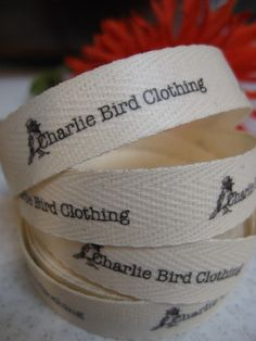 custom fabric labels approx £12 inc. p