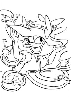 Daisy Duck Coloring Pages 14 Free Kids Coloring Pages, Online Coloring Pages, Free Printable Coloring Pages, Colouring Pages, Coloring Books, Daisy Duck, Disney Coloring Sheets, Coloring Sheets For Kids, Pintar Disney