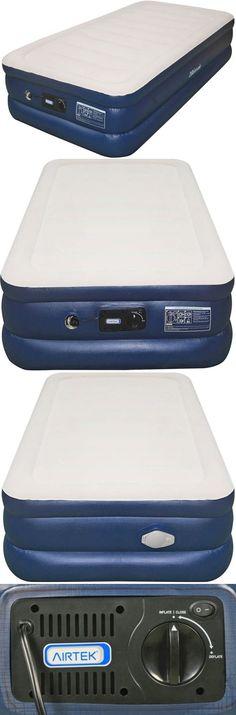 inflatable mattresses airbeds airtek twin size raised flocked top inflatable air bed mattresses built