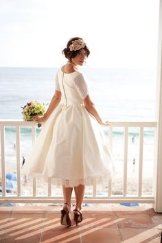 Short Wedding Dress Dolly Couture Beverlywood Silk | DollyCouture.com