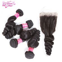 Queen Love Hair Peruvian Loose Wave Bundles With Closure 100% Human Hair Peruvian Hair Weave 4 Bundles With Closure  Remy     Wholesale Priced Wigs, Extensions, And Bundles!     FREE Shipping Worldwide     Get it here ---> http://humanhairemporium.com/products/queen-love-hair-peruvian-loose-wave-bundles-with-closure-100-human-hair-peruvian-hair-weave-4-bundles-with-closure-remy/  #curly_wigs