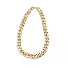 Gold Chain Link Necklace. Just found one for $3. Cheap costume jewelry... Shop estate sales!