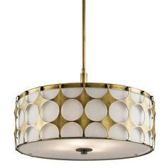 Kichler Charles 4 Light Pendant - Natural Brass