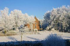 De Landgoederij en Kasteel Cammingha in een complete wintersfeer, prachtige locatie om ook in de winter te trouwen! #winterwedding #castle #DeLandgoederij