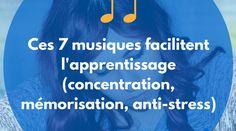 Nous vous invitons à tester l'écoute de 7musiques qui faciliteront votre apprentissage et votre capacité de concentration. Anti Stress, Education Positive, Cycle 3, Tai Chi, Adolescence, Self Development, Good To Know, Law Of Attraction, Coaching