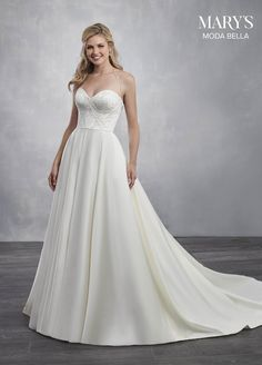 42e26201bb9 Marys Bridal Bridal Dresses dress with Style - Fabric -  Satin tulle Applique and Color - Ivory or White. Mary s Bridal · Moda Bella  Spring 2019