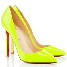Color: Fluo Yellow Material: Leather Height: 4.7 inches approx. - 120 mm approx. Pointed toe Signature red leather sole Made in Italy  Welcome new and old customers to buy them with free shipping and no tax!You can't miss them! You may also like this Christian Louboutin Peep Toesor Christian Louboutin Very Prive 120mm Lace Pumps Nude Black.Welcome to visit and make orders.