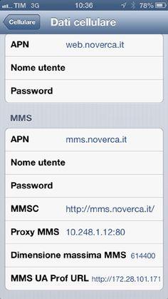 configurare #iPhone con #Noverca: ecco come si fa
