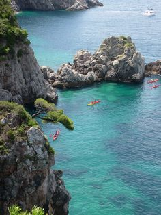 Kayaking around Croatian islands.