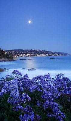 Moonrise over Laguna Beach, California • photo: Eric Foltz on Getty Images