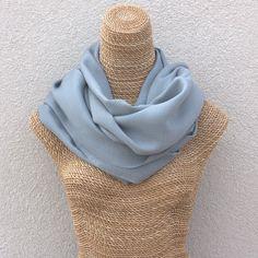 slate gray merino wool pashmina shawl.