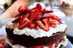 Làm bánh sinh nhật chocolate dâu tây on http://sotaynauan.com