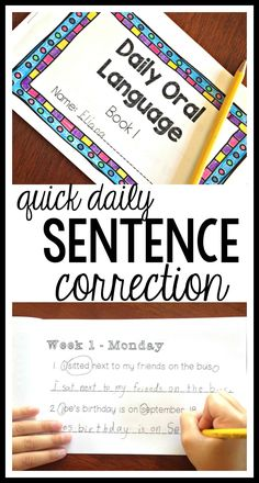 Quick, common core aligned, daily punctuation practice for kids in second grade, third grade, fourth, grade, and fifth grade! These Daily Oral Language booklets encourage students to edit for punctuation, spelling, and capital letters. Perfect for Writers' Workshop or quick morning work. Daily Oral Language, Language Arts, Second Grade, Fourth Grade, Teaching Writing, Teaching Resources, Writing Prompts, Language Activities, Reading Activities