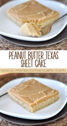 Chicken Enchiladas Discover Peanut Butter Texas Sheet Cake For all you peanut butter lovers out there this Peanut Butter Texas Sheet Cake will make all your dreams come true. Peanut Butter Sheet Cake, Peanut Butter Desserts, Köstliche Desserts, Delicious Desserts, Dessert Recipes, Yummy Food, Frosting Recipes, Health Desserts, Healthy Food