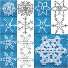 How to crochet Snowflakes Pattern step by step DIY tutorial instructions, How to, how to do, diy instructions, crafts, do it yourself, diy website, art project ideas