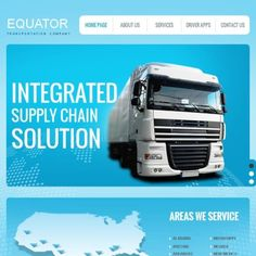 Trucking Premium Facebook HTML CMS Template